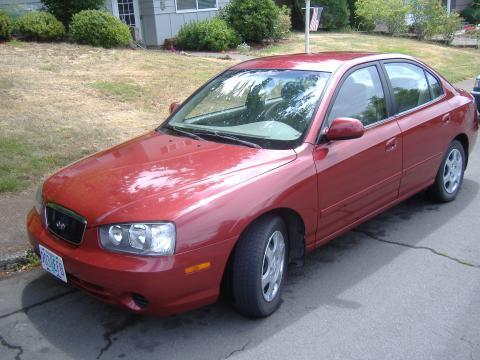 2002 Hyundai Elantra GLS Sedan in Chianti Red
