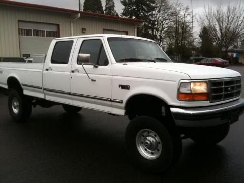 1996 Ford F350 XLT Crew Cab in Oxford White