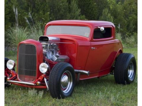 1932 Ford Deuce Coupe 3 Window
