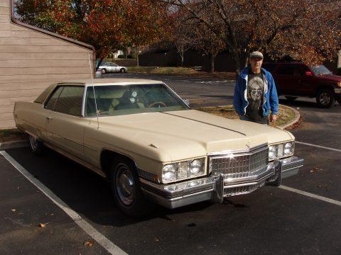 1973 Cadillac Coupe de Ville Hardtop in Cream