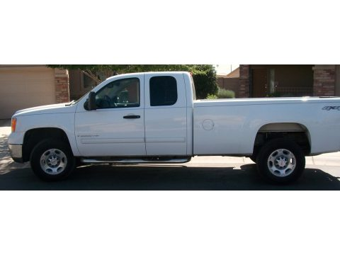 2009 GMC Sierra 2500HD SLE Extended Cab 4x4 in Summit White
