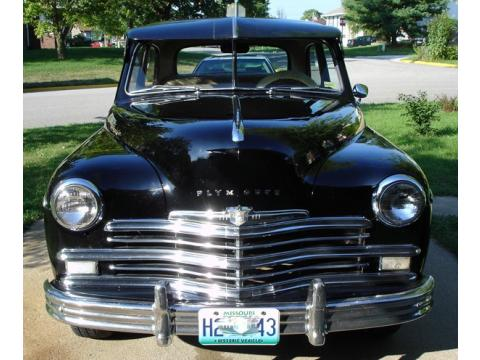 1949 Plymouth Super Deluxe 2 Door Sedan in Black