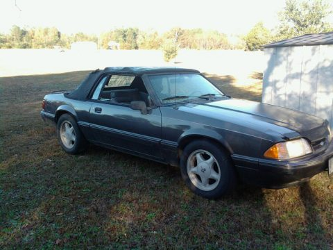 1992 Ford Mustang LX Convertible in Medium Titanium Metallic