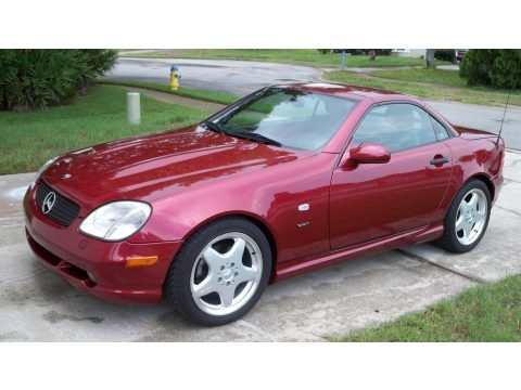 1999 Mercedes-Benz SLK 230 Kompressor Roadster in Firemist Red Metallic