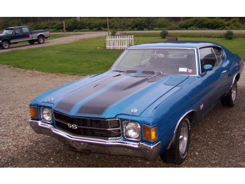1971 Chevrolet Chevelle SS 454 in Mulsanne Blue
