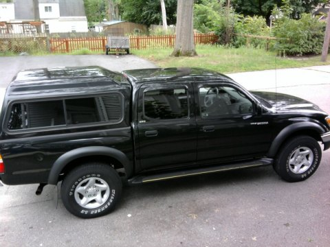 2003 Toyota Tacoma V6 PreRunner Double Cab in Black Sand Pearl