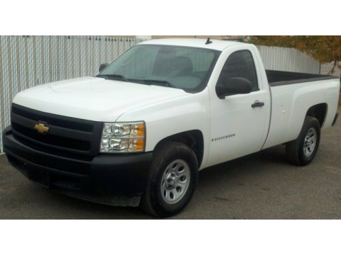 2008 Chevrolet Silverado 1500 Work Truck Regular Cab in Summit White