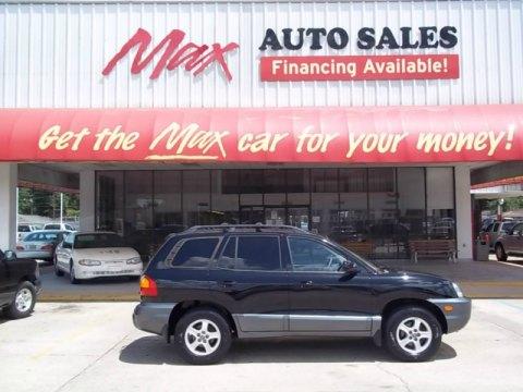 2002 Hyundai Santa Fe GLS in Black Obsidian