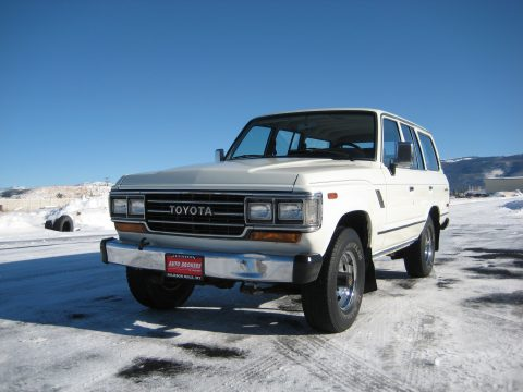 1989 Toyota Land Cruiser  in White