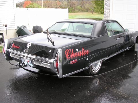 1972 Cadillac Coupe DeVille  in Black