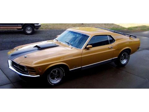 1970 Ford Mustang Mach 1 in Bright Gold Metallic