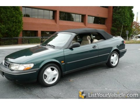 1996 Saab 900 SE Turbo Convertible in Scarabe Green Metallic