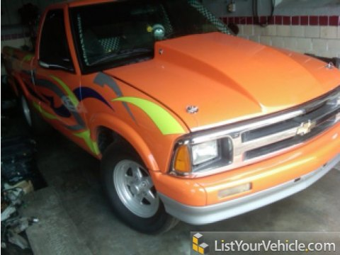 1994 Chevrolet S10 Race Truck in Custom Orange