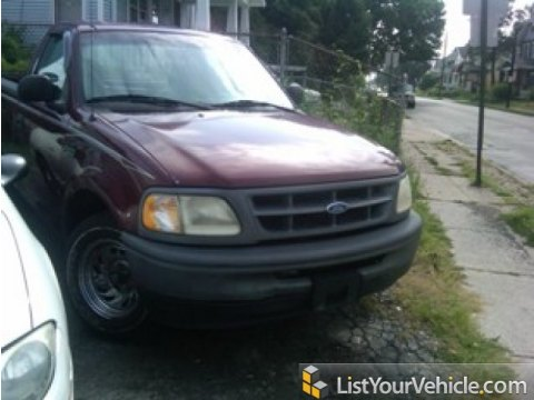 1997 Ford F150 XL Regular Cab in Dark Toreador Red Metallic