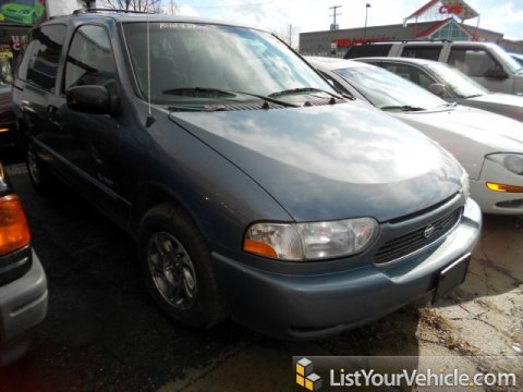 2000 Nissan Quest GXE in Stonewashed Blue Metallic