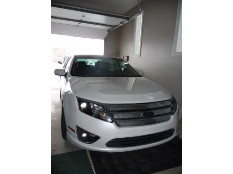 2011 Ford Fusion SEL V6 in White Platinum Tri-Coat