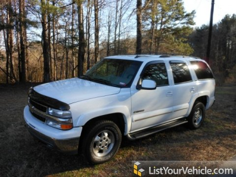 2002 Chevrolet Tahoe LT in Summit White