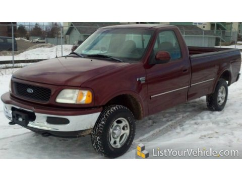1998 Ford F150 XLT Regular Cab 4x4 in Dark Toreador Red Metallic