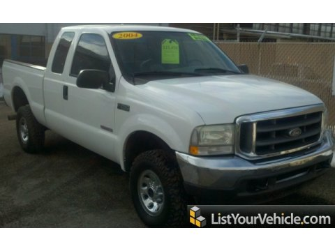 2004 Ford F250 Super Duty XLT SuperCab 4x4 in Oxford White