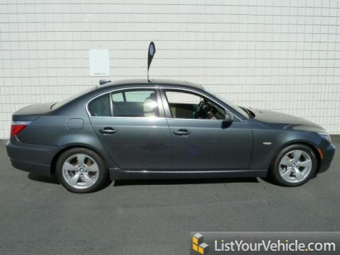 2008 BMW 5 Series 528i Sedan in Platinum Grey Metallic