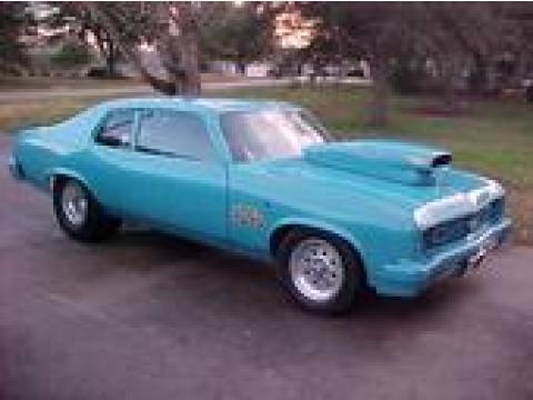 1974 Chevrolet Nova Pro Street in Powder Blue