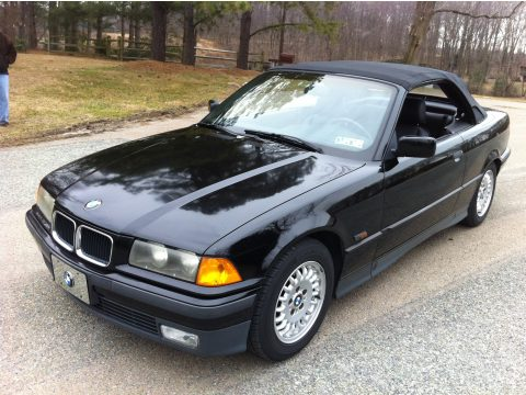 1995 BMW 3 Series 325i Convertible in Jet Black