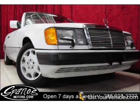1993 Mercedes-Benz E Class 300 CE Cabriolet in Arctic White
