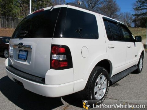 2008 Ford Explorer XLT in White Suede