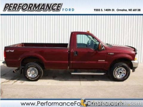 2004 Ford F250 Super Duty XLT Regular Cab 4x4 in Dark Toreador Red Metallic