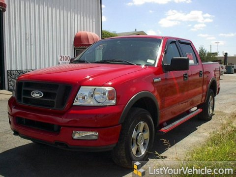 2004 Ford F150 FX4 SuperCrew 4x4 in Bright Red