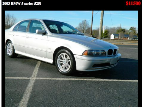2003 BMW 5 Series 525i Sedan in Titanium Silver Metallic