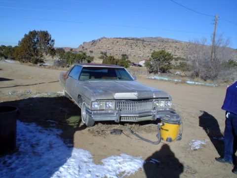 1973 Cadillac Coupe de Ville 2 Door Hardtop in Silver