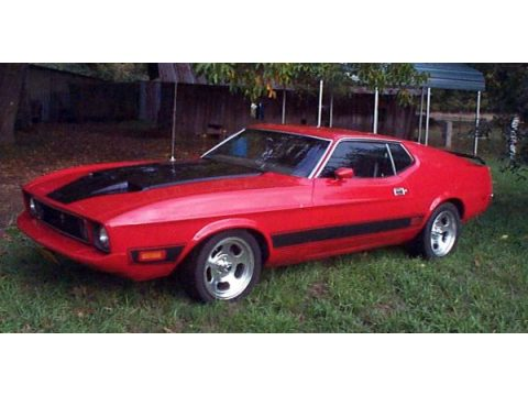 1973 Ford Mustang Mach 1 Fastback in Bright Red