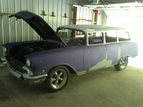 1957 Chevrolet Bel Air Hard Top in Purple/White