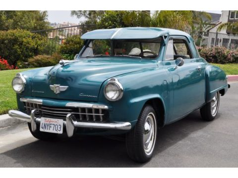 1948 Studebaker Champion Starlight Coupe in Turquoise
