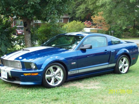 2008 Ford Mustang Shelby GT Coupe in Windveil Blue Metallic