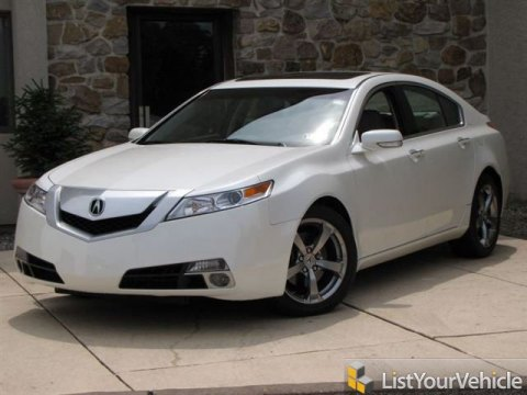 2010 Acura TL 3.7 SH-AWD Technology in White Diamond Pearl
