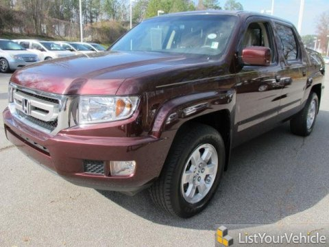2010 Honda Ridgeline RTS in Dark Cherry Pearl