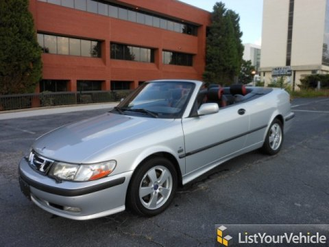 2003 Saab 9-3 SE Convertible in Silver Metallic