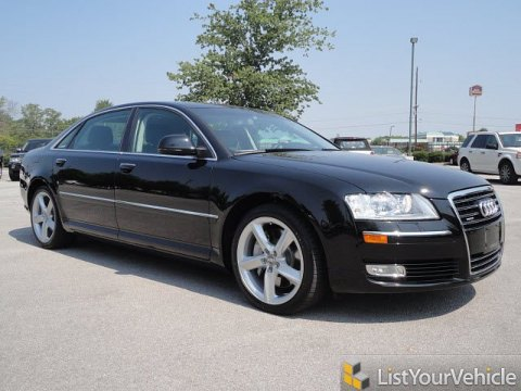 2008 Audi A8 L 4.2 quattro in Brilliant Black