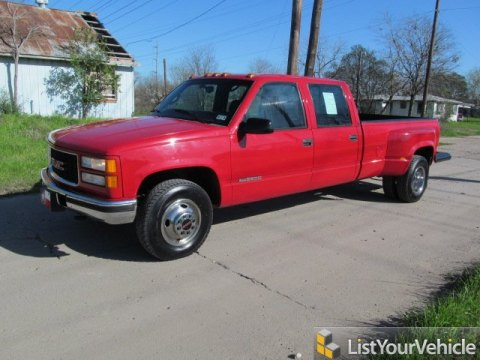 1998 GMC Sierra 3500 SLE Crew Cab in Red