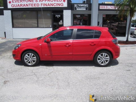 2008 Saturn Astra XR Sedan in Salsa Red