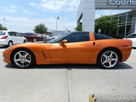 2007 Chevrolet Corvette Coupe in Atomic Orange Metallic