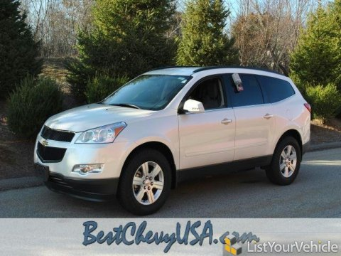 2012 Chevrolet Traverse LT AWD in White