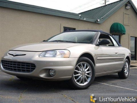 2002 Chrysler Sebring Limited Convertible in Light Almond Pearl Metallic