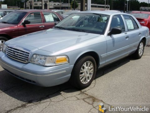 2003 Ford Crown Victoria LX in Light Ice Blue Metallic