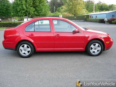 2002 Volkswagen Jetta GLS Sedan in Tornado Red