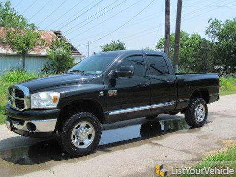2008 Dodge Ram 2500 SLT Quad Cab 4x4 in Brilliant Black Crystal Pearl