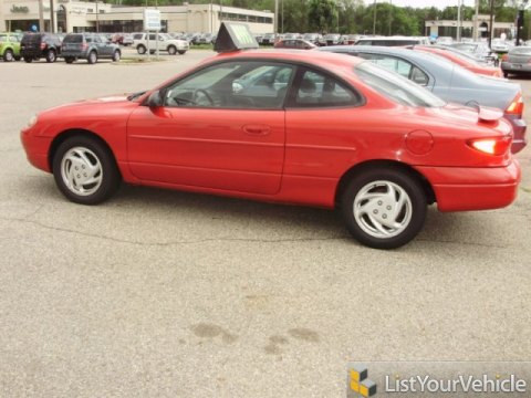 1999 Ford Escort ZX2 Coupe in Bright Red