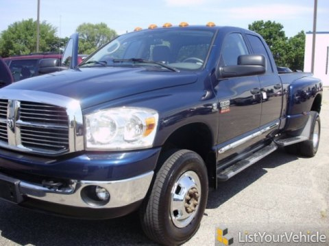 2008 Dodge Ram 3500 Big Horn Edition Quad Cab 4x4 Dually in Patriot Blue Pearl